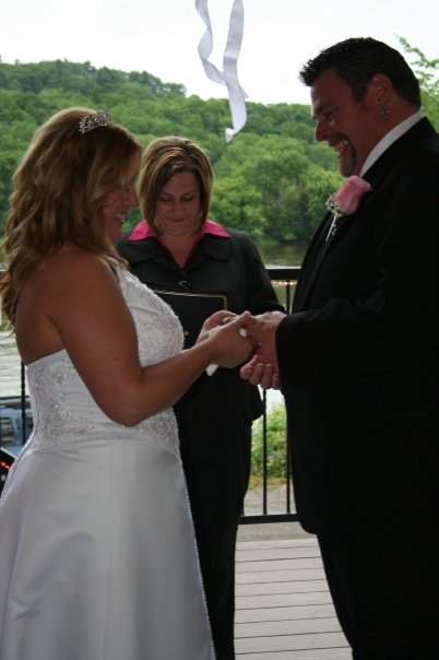 Hallowell Maine wedding ceremony