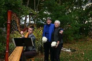 Bar Harbor maine wedding harpist